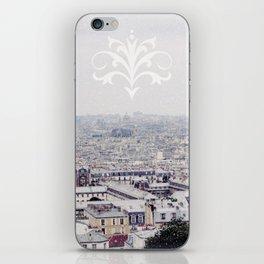WINTER IN PARIS iPhone Skin