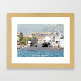 USS JAMES K. POLK (SSBN-645) Framed Art Print