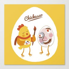 Chickasso Canvas Print