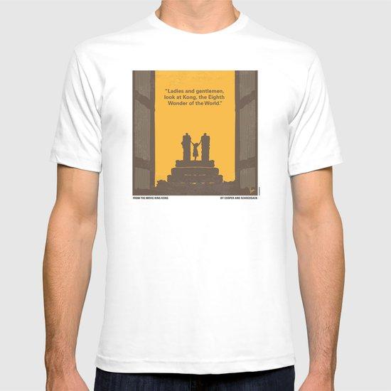 No133 My KING KONG minimal movie poster T-shirt