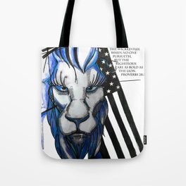Bold as the Lion Tote Bag