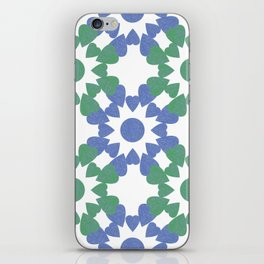 abstract background with flower and hearts iPhone Skin