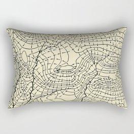 Topography Map Rectangular Pillow