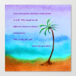 """""""Ghost Tree #13"""" Painting with Poem Canvas Print"""