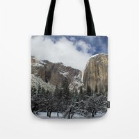 yosemite Tote Bags featuring Yosemite by Michelle Chavez