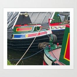 Traditional Narrowboats Art Print