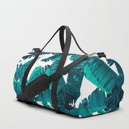 Banana Teal Duffle Bag