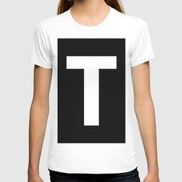 Letter T (White & Black) T-shirt