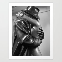 Dream Lover, Coming Home Sculpture by Bruno Bruni black and white photograph / art photography Art Print