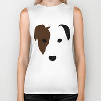 terrier Biker Tanks featuring Russell Terrier by Dizzy Moments
