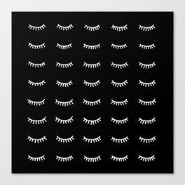 40 winks, black background Canvas Print