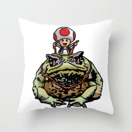 Toad Racing Throw Pillow