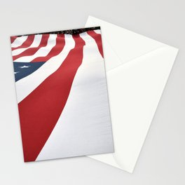 American Flag in Color Stationery Cards
