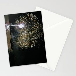 Bright lights on the water Stationery Cards