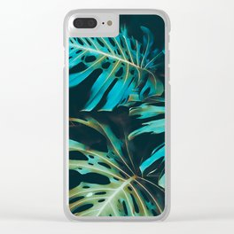 Night Tropic Turq Clear iPhone Case