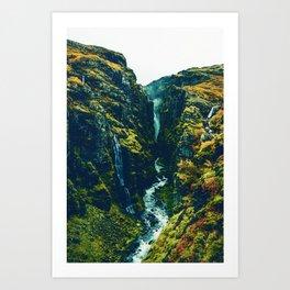 Glymur Falls in Iceland. Art Print