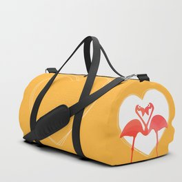 lovebirds - flamingos in love Duffle Bag