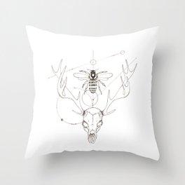 Stellar Skull Throw Pillow