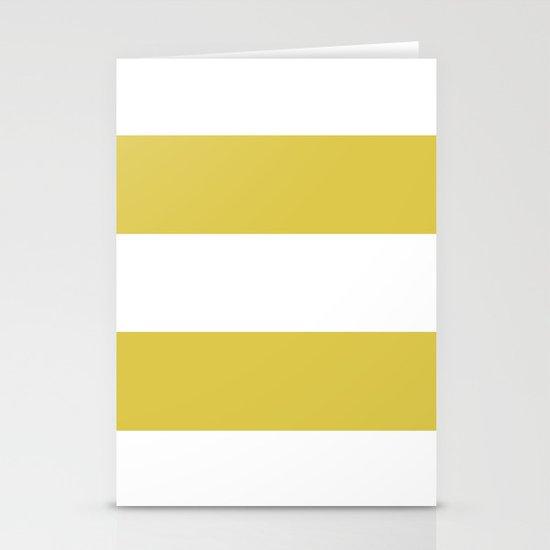 MUSTARD & WHITE STRIPE Stationery Cards