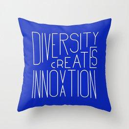 Diversity creates innovation Throw Pillow