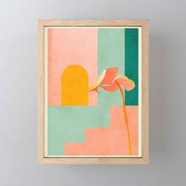 tropical geometry Framed Mini Art Print