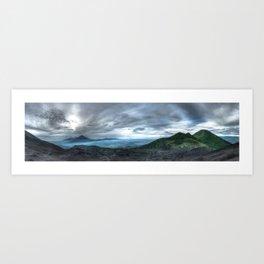 Volcanoes at large Art Print