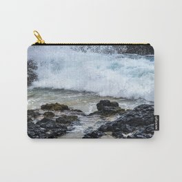Crashing Waves In Hidden Hawaiian Cove Carry-All Pouch