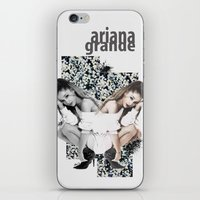 ariana grande iPhone & iPod Skins featuring Ariana by Andrea Valentina