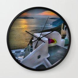 Santorini 4 Wall Clock