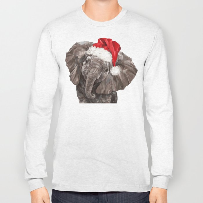 Christmas Baby Elephant Long Sleeve T-shirt