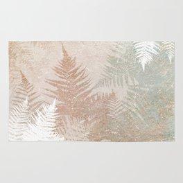 Fern Snowflakes - Golden, bronze & Sage Rug