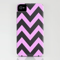 Pink & Charcoal Chevron iPhone (4, 4s) Slim Case