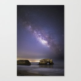 Milky Way over Natural Bridge Canvas Print