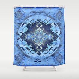Future Insights Mandala Portal Shower Curtain