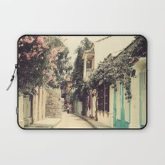 Just like a dream street, Cartagena (Retro and Vintage Urban, architecture photography) Laptop Sleeve