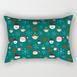 Christmas Four with Snowflakes Rectangular Pillow