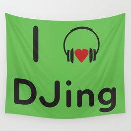 I heart DJing Wall Tapestry