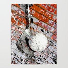 Modern Golf Art 3 Poster