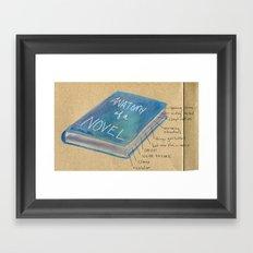 Anatomy of a Novel Framed Art Print