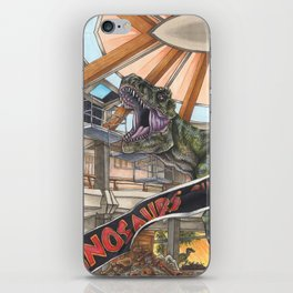 When Dinosaurs Ruled the Earth - Jurassic Park T-Rex iPhone Skin