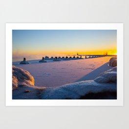 Dawn at North Avenue Beach Art Print
