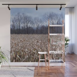 Field of Corn left Behind Wall Mural