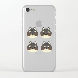 Shiba Inu Emote - Dark Clear iPhone Case