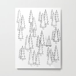 Lost in the wood, a lonely cabin Metal Print