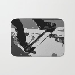 Half Pipe Skateboarding Bath Mat
