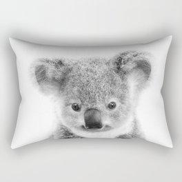 Baby Koala Black & White, Baby Animals Art Print by Synplus Rectangular Pillow