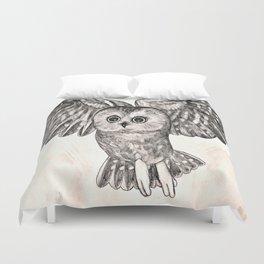 Saw Whet Owl Duvet Cover