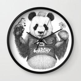 Punk Panda Wall Clock