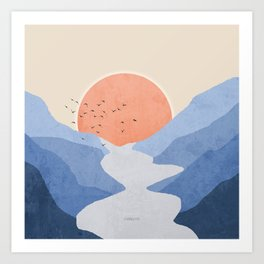 Touch of River Art Print