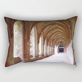 Monastery archway in Germany Rectangular Pillow